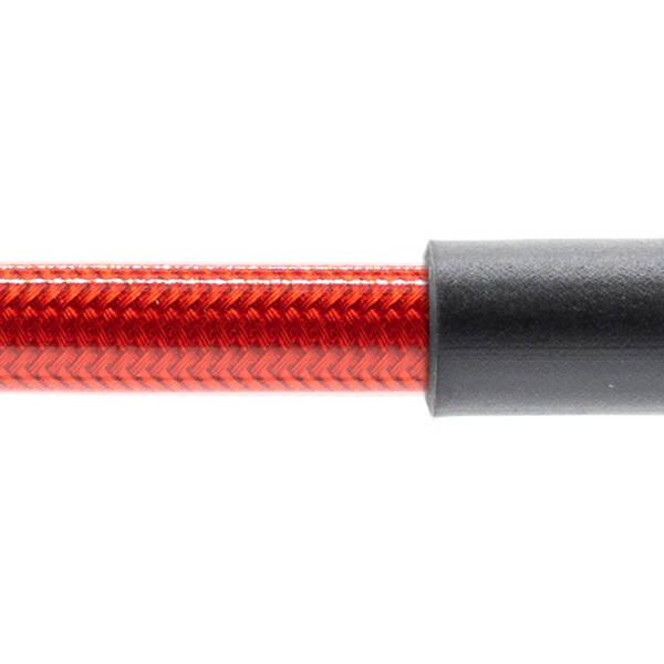 Stahlflex Bremsschlauch Transparent Rot - mit Knickschutz