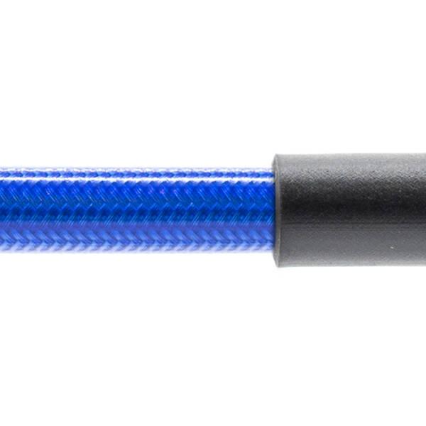 Stahlflex Bremsschlauch Transparent Blau - mit Knickschutz
