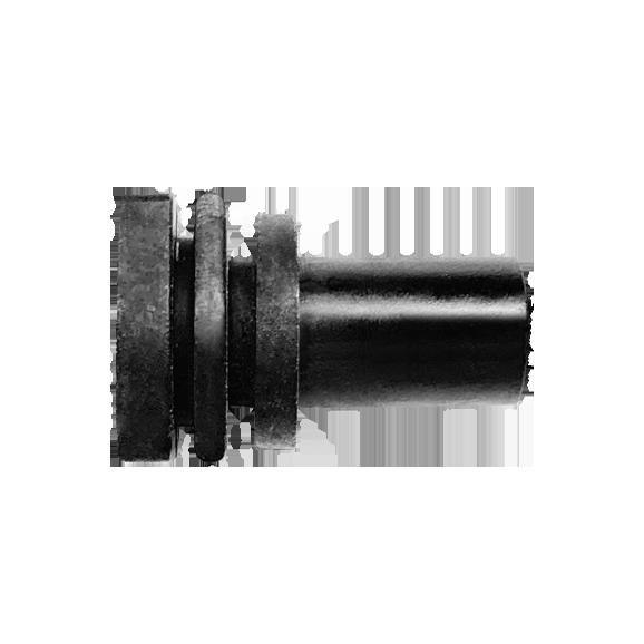 Kunststoffhalter mit Doppelnut links - Halter 6