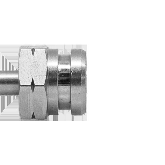 Drehbares Innengewinde mit NUT SW17 (Konvex/Konkav) M10 x 1.25 - Nr. 511 rechts